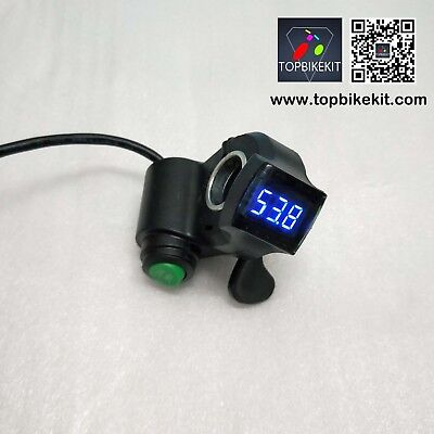 Eastbuy Thumb Universal LED Voltage Display Throttle for 12-99V Ebike Scooter