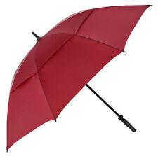 Big Golf Umbrella with Windproof Vented Canopy & Fibreglass Frame - Burgundy Red