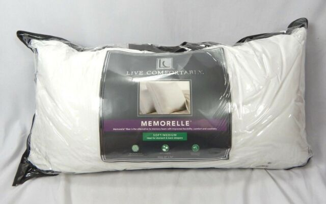 Live Comfortably Memorelle Polyester Memory Fiber Pillow Firm Standard Queen
