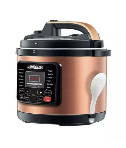 GoWISE USA 12.5 Qt Electric Pressure Cooker / 12 Presets Cooking Programs New