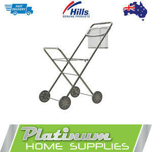 Hills Laundry Trolley  Premium Peg Basket Folding Washing Clothes Cart