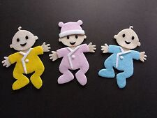 3 Felt baby Die cuts. Embellishments. Card topper, Box frame, scrap book, Crafts