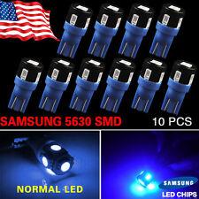 10X T10 194 Ultra Blue High Power 5630 LED License Plate Interior LED Lights