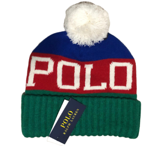 New-Polo-Ralph-lauren-men-pom-pom-beanie-hat-one-size