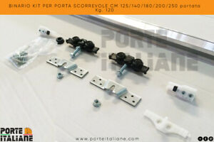 BINARIO-KIT-PER-PORTA-SCORREVOLE-CM-125-140-180-200-250-portata-Kg-120