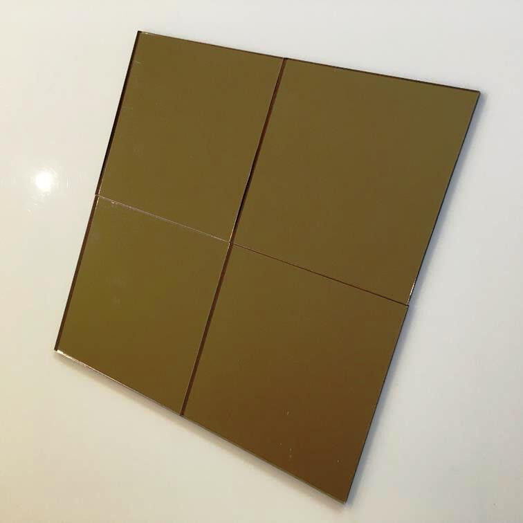 Square Acrylic Wall Tiles - Bronze Mirror
