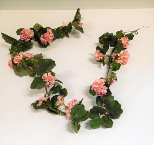 Geranie Geraniengirlande Girlande Seidenblume rose rosa L 185 cm 331003-11 F19