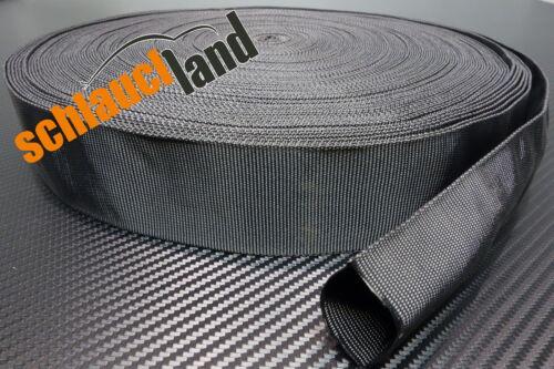 1m Nylon Gewebeschlauch ID 50mm *** Kabelschutz Schutz Schlauch Hitze Abrieb