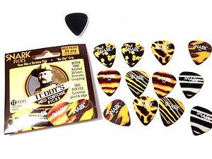Snark Teddys Neo Tortoise Picks Pack of 12 Thin 0.64mm