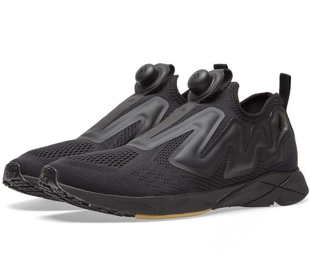 Mens Reebok Pump Plus Engine BS8807 Black Sneakers Slip On Limited Edition NEW