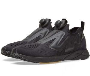 90c2942b76309 Image is loading Reebok-Pump-Plus-Engine-BS8807-Black-Sneakers-Slip-