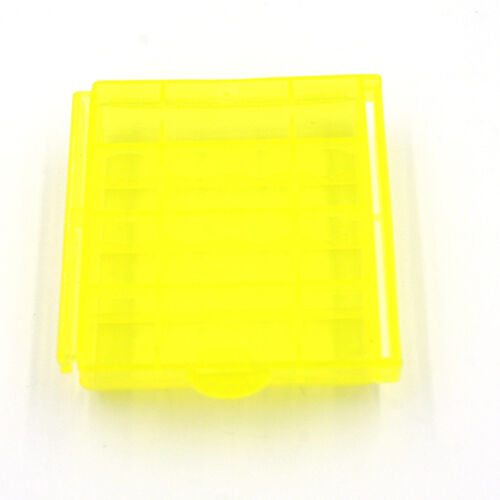1//5//10X Plastic Translucent Case Holder Storage Box for AA AAA Battery LS