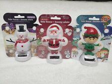Solar Powered Dancing Christmas Santa /& Snowman Toy figure wiggles /& dances New