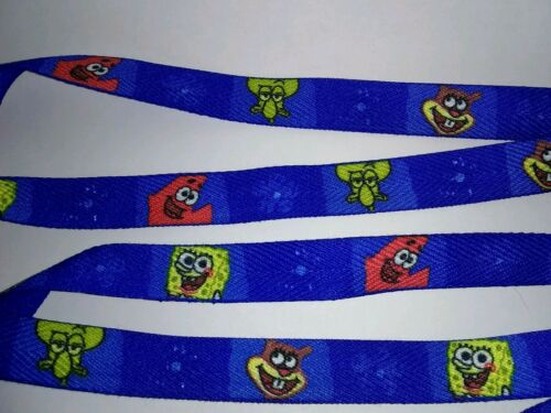 "Spongebob Shoe Laces 2 TWO Pair Blue  Double Sided 36/"" NEW"