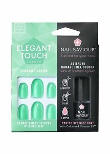 Health & Beauty Well-Educated Elegant Touch Nails With Nail Saviour Vibrant Green X Refreshing And Enriching The Saliva