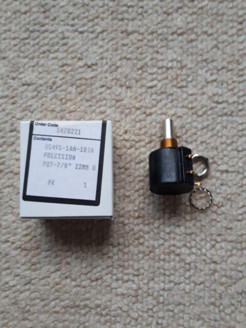 Potentiometer: shaft; multiturn; 10kOhm; 2W; ±3%; 6.35mm; linear; IP50 [1 pcs]