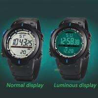 Men's Boy LCD Digital Stopwatch Date Rubber Sport Wrist Watch LED Military Alarm