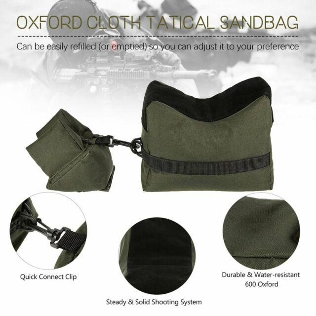 Shooting Gun Rest Bag Set Front&Rear Rifle Target Hunting Bench Bag Sandbag .