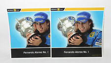 x2 Postcards  Renault F1 Team  Fernando Alonso  No.1