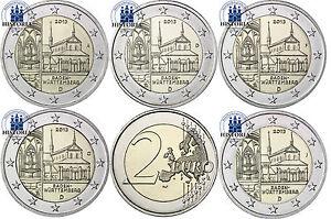 Deutschland-5-x-2-Euro-2013-Kloster-Maulbronn-Mzz-A-D-F-G-J-bankfrisch