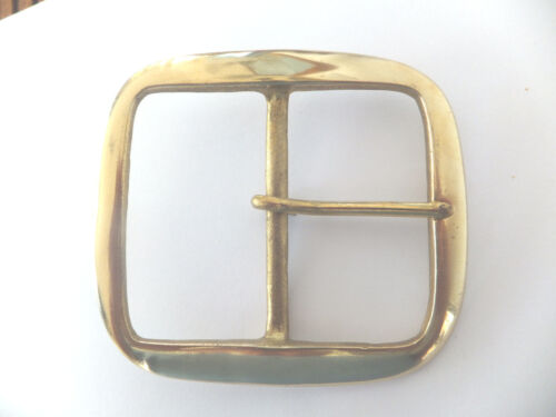 """2-1//2/"""" - 65 mm LARGE Solid Brass BRIDLE GIRTH Belt Buckle Leather craft"""