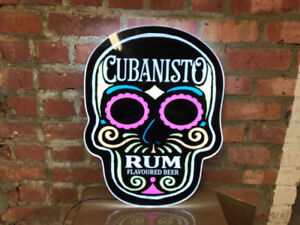 CUBANISTO-SKULL-LED-ILLUMINATED-WALL-HANGING-NEON-STYLE-SIGN-brand-new-pub-bar