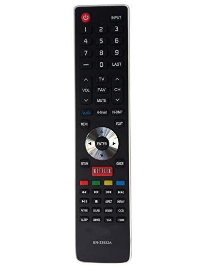 Hisense EN-33922A Replaced TV Remote Control for HDTV 40H5B 32H5FC 65H8CG 75H9