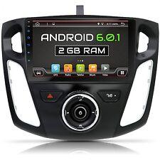 "9""ANDROID 6.0.1.AUTORADIO FÜR FORD FOCUS 2012-2016 2GB-RAM 3G WIFI BLUETOOTH GPS"