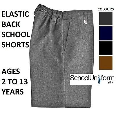 4 Regular, Black Boys Flat Front Shorts