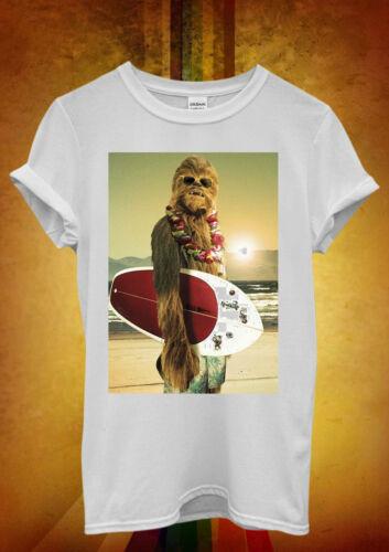Star Wars Chewbacca surf Drôle Hommes Femmes Unisexe T shirt débardeur gilet 67