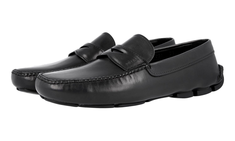 AUTH LUXURY PRADA PENNY LOAFER scarpe 2DD001 nero NEW US 12 EU 45 45,5