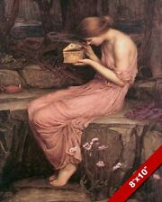 PSYCHE WOMAN OPENING PANDORA'S BOX OIL PAINTING ART REAL CANVAS GICLEEPRINT
