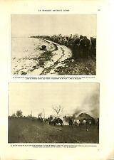 WWI Kosovo Soldiers Serbia Army Village de Rajagne Serbie Horses B ILLUSTRATION