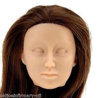 Fembasix Cg Cy Girl Lia Female Figure Head Brown Hair Tan Skin No-deco 1:6 Scale