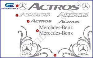 1 Set ( 9 Stück ) MERCEDES - ACTROS - Fahrerhaus Aufkleber - Sticker - Decal !!