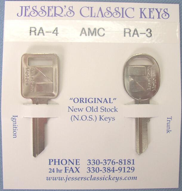 Rare Original AMC Keys 1970 1971 1972 1973 NOS New Old Stock American Motors