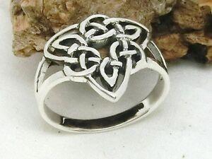 Keltischer-Knoten-925-Silber-Ring-dreieckig-Kelten-Wikinger-Keltenschmuck