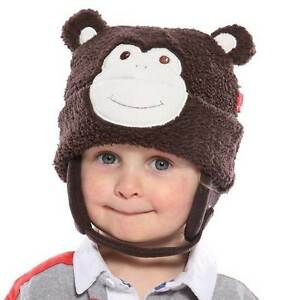8bbc9d53037 Image is loading Babies-Kids-Monkey-Hat-Soft-Brown-Warm-for-