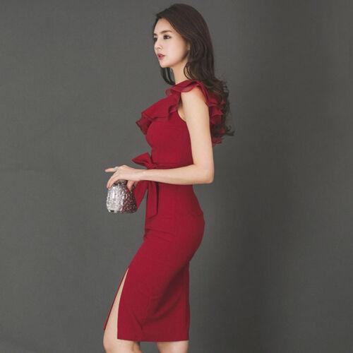 jurk schede jurk zachte getailleerde Kort slanke rood 4726 Elegante zqPvdxz