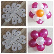 Useful 10pcs//Set Flower Balloons Plum Clip Tie Birthday Wedding Party Decoration