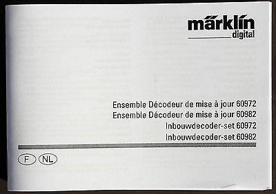 Märklin Manuale Per La Mfx Decoder 60972 +60982 In Francese + Nl-itung Für Die Mfx Decoder 60972 +60982 In Französisch + Nl It-it Mostra Il Titolo Originale Grandi Varietà