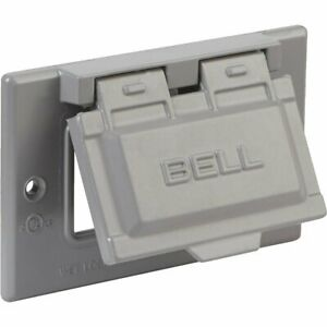 Flat White Bell Weatherproof Single Outlet Cover Outdoor Receptacle Protector