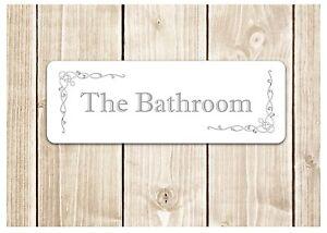 39 THE BATHROOM 39 Door Sign Metal Plaque For Toilet Or