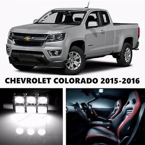 15pcs led xenon white light interior package kit for chevrolet colorado ebay for Chevy colorado interior lights