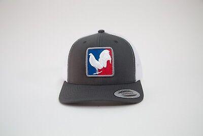 PalenkeBrand 3D Multicam  Black Flatbill Snapback Game Cock Rooster Hat