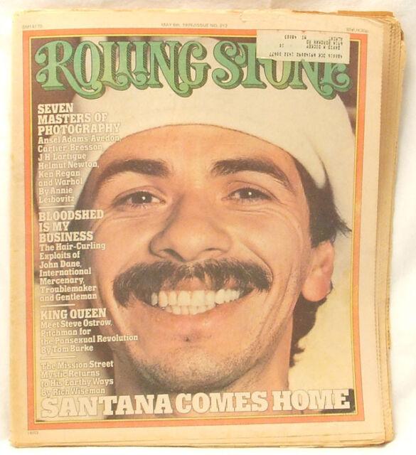 Carlos Santana ROLLING STONE MAGAZINE Issue #212 Steve Ostrow May 6 1976 RARE!!