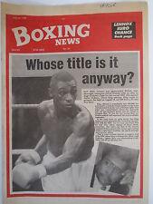 Boxing News 20 July 1990 Herol Graham Lennox Lewis-Jean Chanet Phil Martin