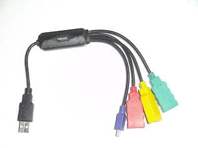 Eine GroßE Auswahl An Modellen 169 Treu Delock 61724 Usb 2.0 External 4-port Cable Hub 4 X Hi-speed