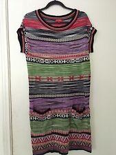Rene Derhy Knit Aztec Dress L