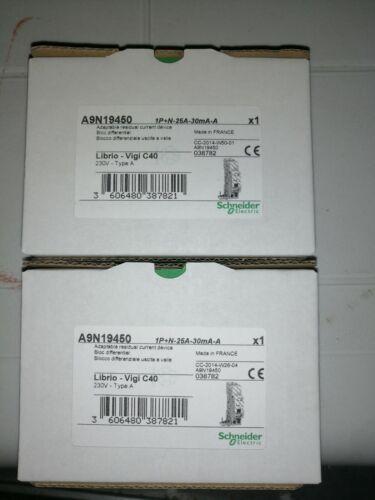 Vigi C40 1P+N 25A 30mA SCHNEIDER A9N19450 Interruttore differenziale sing part